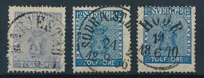 [4111] Sweden 1858-70 good classic stamp very fine used with nice cancel (3)