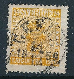 [4121] Sweden 1858-70 good classic stamp very fine used with nice cancel