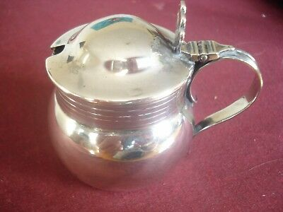 Sterling Silver Mustard Pot C1925 London