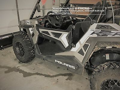 RZR 1000-Turbo 15-18 2 seat Lower Half Doors, Tinted (See Thru) Polycarbonate)