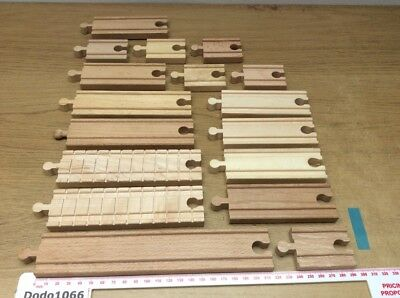 Job Lot of Varied Straight Tracks - Wooden Train Track (BRIO, Thomas etc)