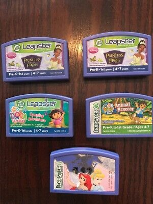 Leapster Leap Frog Lot Of 5 Games