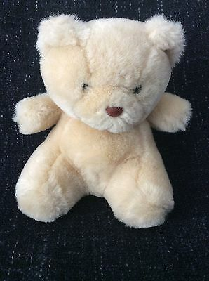 Small beige brown teddy bear soft toy sitting 6 inches high