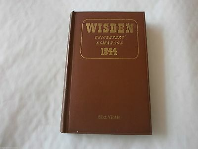 Wisden 1944 ORIGINAL HARDBACK Very Good Condition