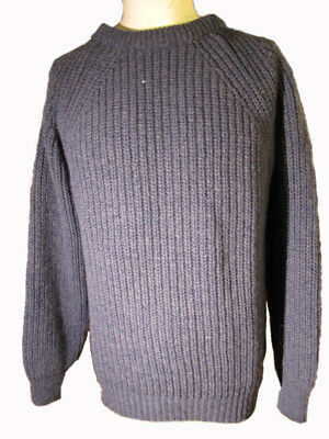 chunky sweater 100% british wool fisherman style supersoft shetland made in uk