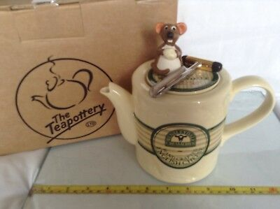 New Teapottery Swineside Novelty Collectable Teapot Wensleydale Mouse Perfect