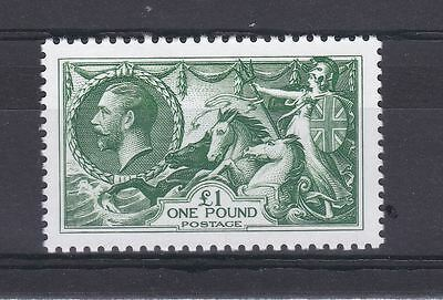 GB KGV SG 403 1913 Seahorses £1 (Official 2013 Replica)