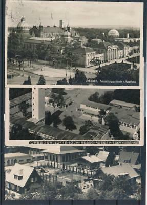 [G44615] Germany Dresden Architecture 3 good old postcards Very Nice