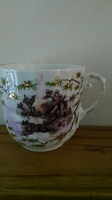 Early UM RS Prussia Scenic Cup and Saucer !!!