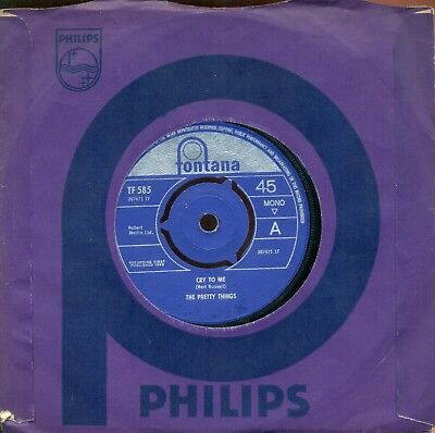 The Pretty Things  - 'cry To Me' / 'get A Buzz'     -  Fontana     1965