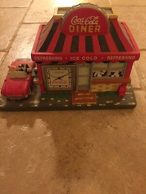 Coca Cola Collectible 1999 Miniature Diner with Clock (not working)