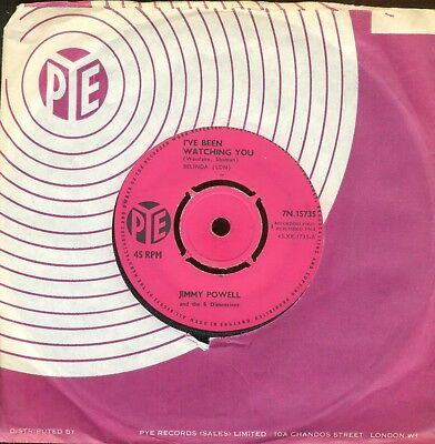 Jimmie Powell & 5 Dimensions - 'i've Been Watching  You  -   Pye   1964   *mod*