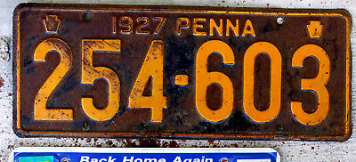 1927 Pennsylvania License Plate