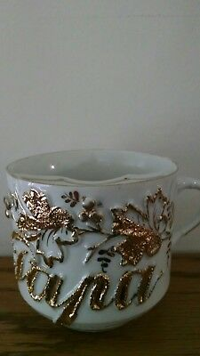Early UM German or RS Prussia, PAPA,  Moustache cup !