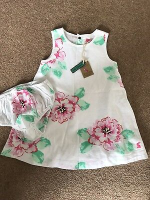 BNWT Joules Dress And Matching Knickers 9-12 Months