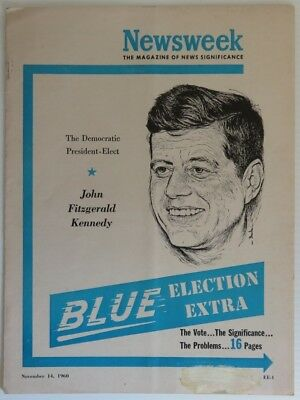 1960 John F. Kennedy Newsweek Blue Election Extra            (Inv14855)