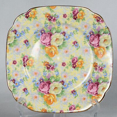 "Royal Albert Chintz Square Plate -  6"" X 6"""
