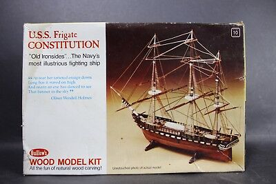 Vintage Guillows U.S.S. Frigate Constitution Navy Fighting Ship Balsa Model #153