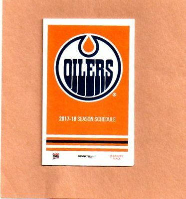 2017-18 Edmonton Oilers Pocket Schedule