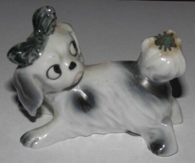 Vintage Erphila Porcelain Dog w/ Bee Germany Figurine