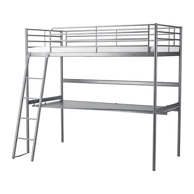 SVARTA Loft Bed Frame with Desk Top