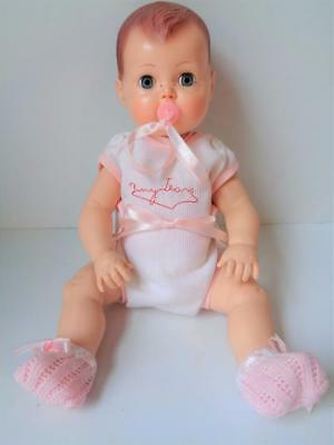 "2003 Mattel Tiny Tears Reproduction 1950s Ideal Baby Doll Pacifier 12"" Painted H"