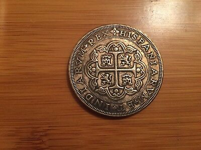 Coin Spain Colonial 8 Reales 1723 Philip 5