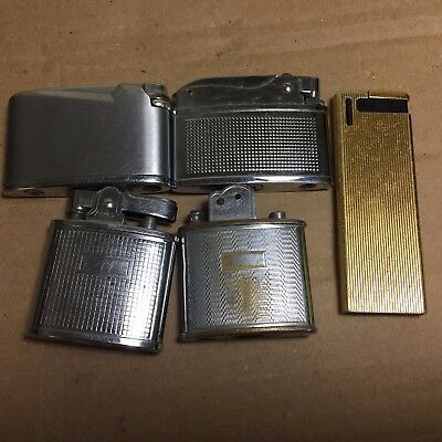 Vintage Job Lot 5 Lighters Maruman Armac Lark Sabre Brotherlite Polo Spares