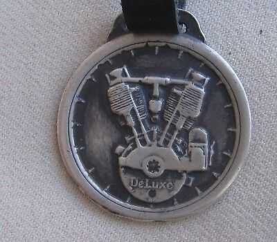 Rare Vintage Sterling Silver DeLuxe Motorcycle Motors Indianapolis Ind Watch Fob