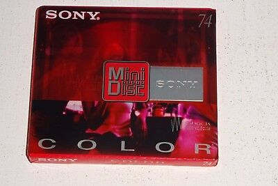 SONY COLOR RED 74 [74 minutes] BLANK MINIDISC SEALED