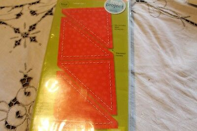"""AccuQuilt GO! Half Square Triangle 3"""" Finished Square Fabric Cutting Die 55009"""