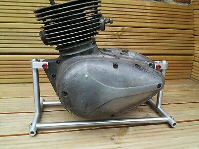 Motorbike engine display stand polished aluminium, custom made,