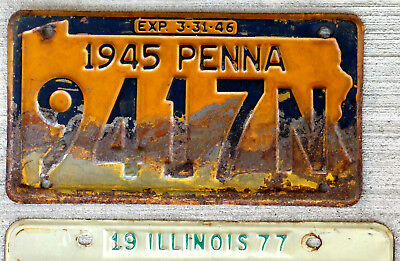 1945 Pennsylvania License Plate