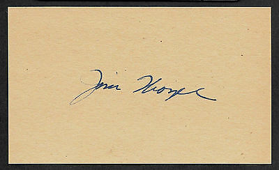 Jim Thorpe Autograph Reprint On 1920s 3x5 Card First Native American Gold Medal