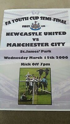 Newcastle v Manchester City FA Youth Cup sf 05/06