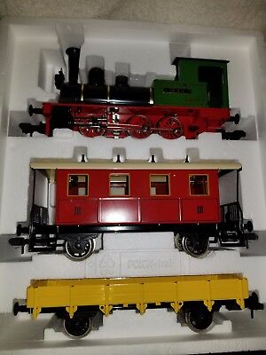 Marklin 1 Gauge: #LOK.01 Engine, Passenger Car and Gondola/Tray L/N