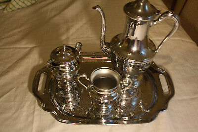 Vintage Cromwell Silver silver plated coffee set