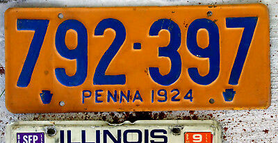 1924 Pennsylvania License Plate [Repainted]