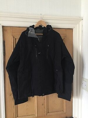 Sessions Men's Snowboard Jacket, Black XL - Used, but good condition.