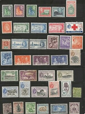 Nice lot-British Colonies--MH- Used 1800's-1960's inc BOB.-nice cancels