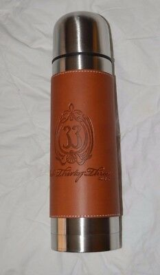 Club 33 Thermos / Drink Bottle - New - Leather Embossed Label
