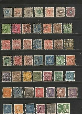 Nice large lot Mh/mostly used (4 scans) Sweden 1800's-1970's inc BOB-