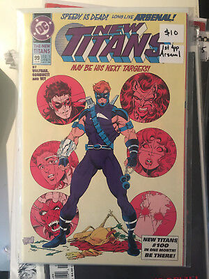 NEW TITANS #99 NM 1st Print 1ST APP ARSENAL Nightwing Marv Wolfman