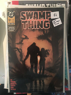 SWAMP THING #64 NM 1st Print LAST ALAN MOORE ISSUE