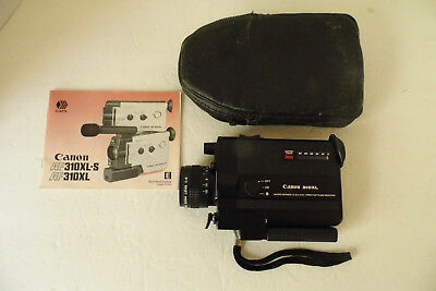 VTG Canon 310XL Super 8 Movie Camera with f 1.0 / 8.5-25.5mm Macro, very Clean.
