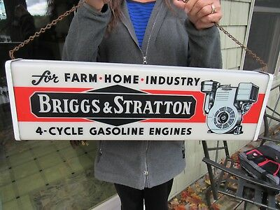 Original Briggs & Stratton Lighted Dealer Service Sign In Excellent Condition