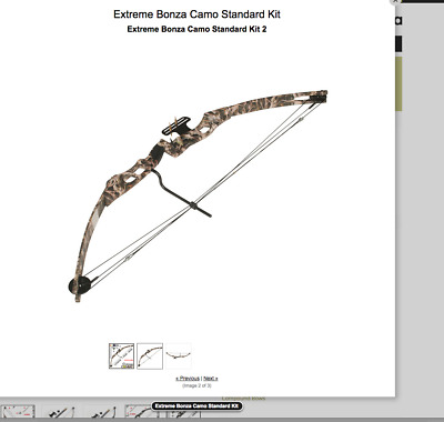 Ex Demo Left Handed Extreme Compound Bow 45-60lbs 3 Year warranty Bonza Camo