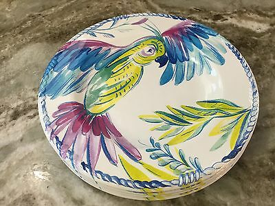 Colorful Parrots Melamine Salad Plates. Artistic Accents. Set Of 4. Durable New & COLORFUL PARROTS MELAMINE Salad Plates. Artistic Accents. Set Of 4 ...