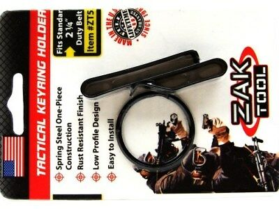 "ZAK TOOL Tactical Black Low Profile Key Ring HOLDER w/ Clip For 2.25"" Belt ZT-52"