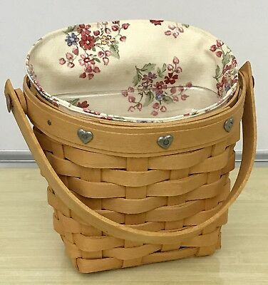 Longaberger Sweetheart Series Love Notes Basket Combo 2001